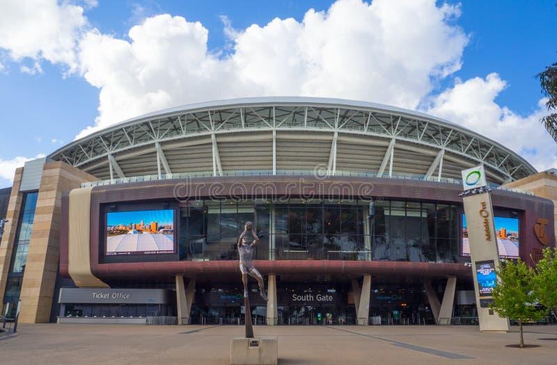 Adelaide Oval est un au sol de sports, situé dans les espaces verts entre Adelaïde de centre de la ville et du nord, l'exposition photos stock