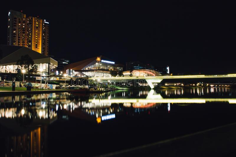 Adelaide river night photography royalty free stock image