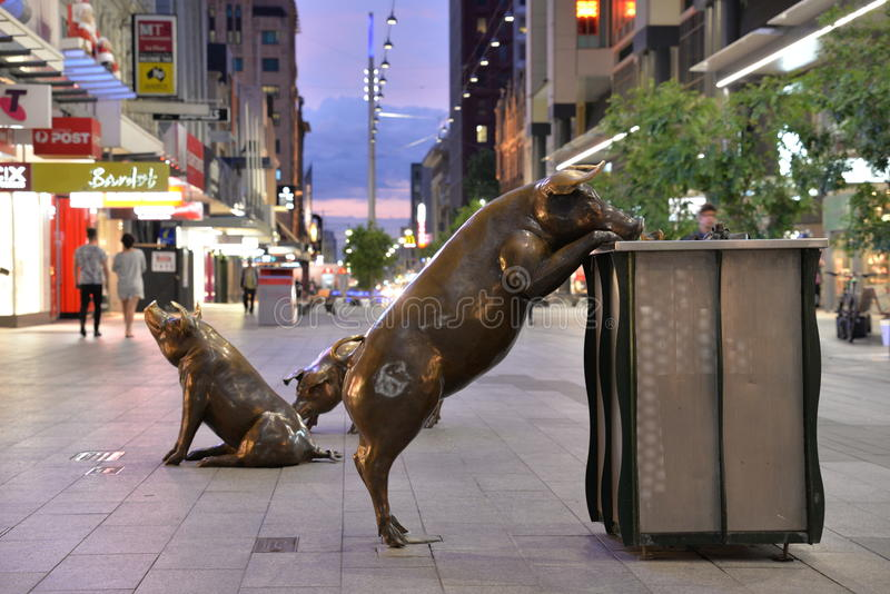 Adelaide Rundle Mall stock photos
