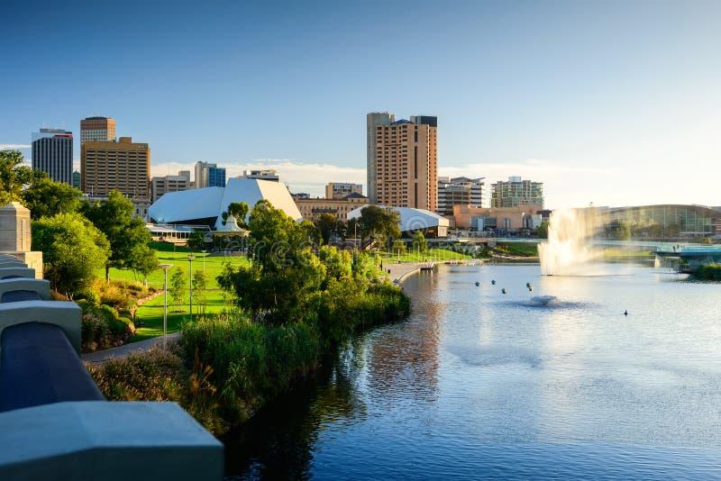 Adelaide stad royalty-vrije stock foto's