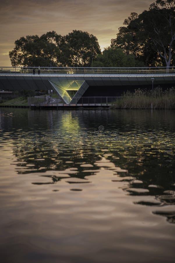 Adelaide - un parque más viejo - tarde imagen de archivo
