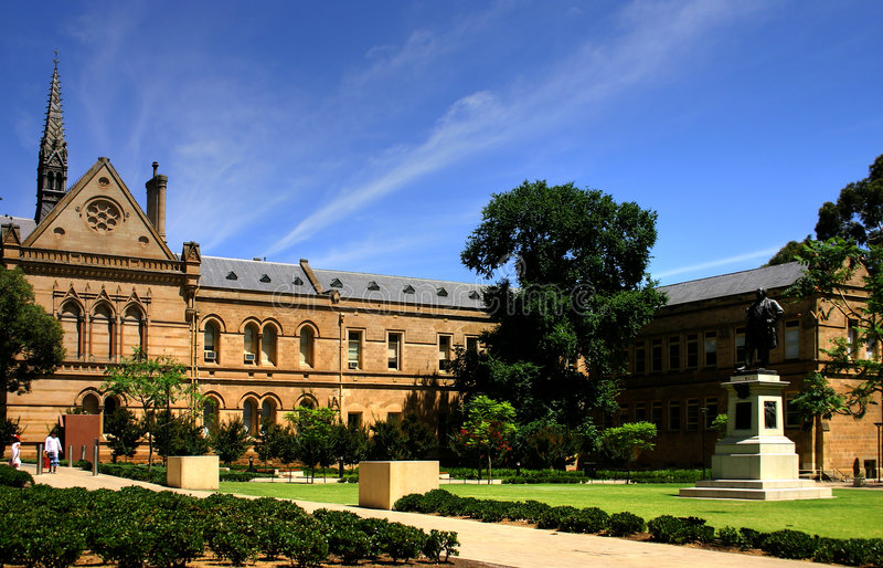 adelaide universitetar royaltyfri foto