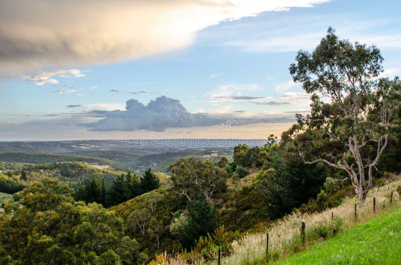 Adelaide wzgórzy widok zdjęcia stock