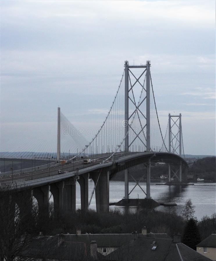 Adelante el puente Escocia del camino fotografía de archivo