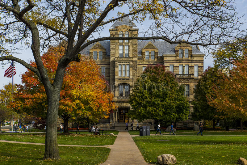 Adelbert Hall - universidad occidental de la reserva del caso - Cleveland, Ohio imagenes de archivo