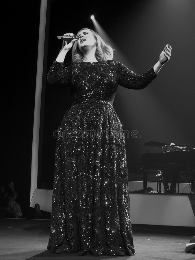 Adele в Швеции стоковые изображения