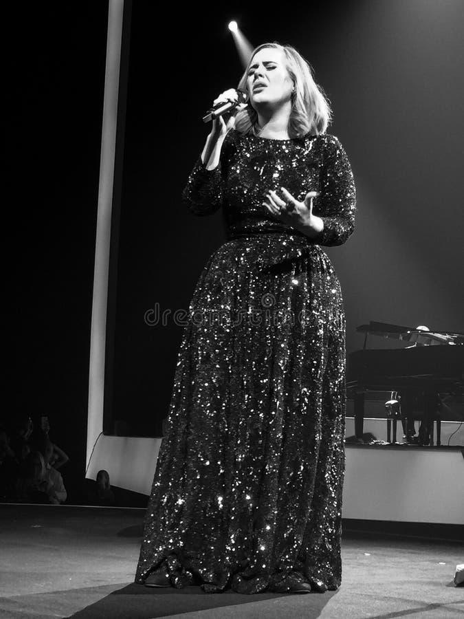 Adele в Швеции стоковая фотография