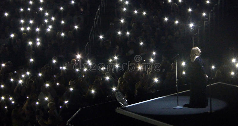 Adele Concert Tour a Los Angeles, California, U.S.A. immagini stock