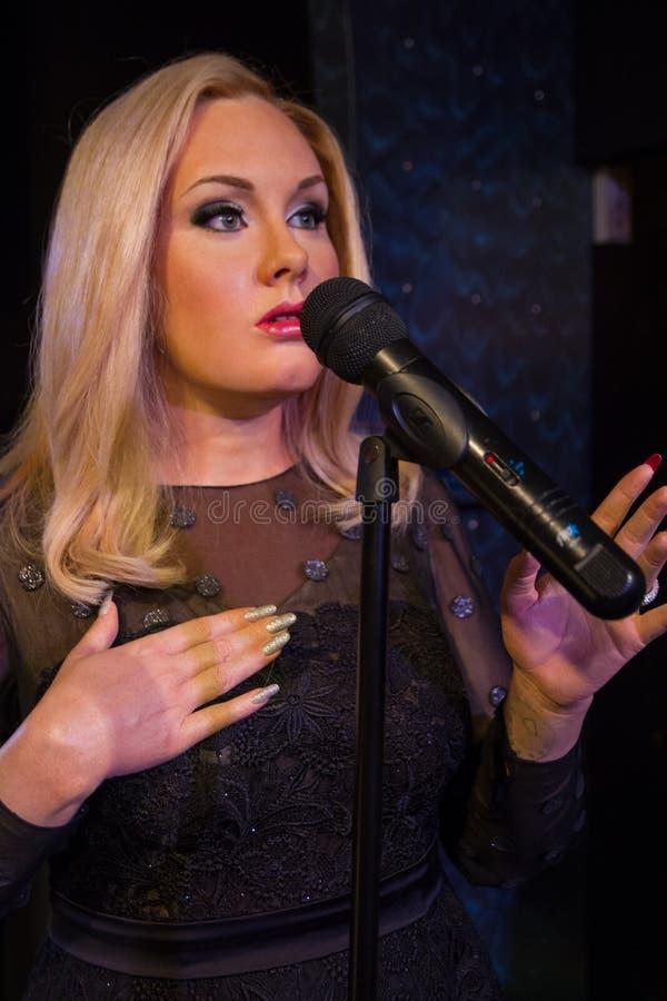 Adele piosenkarz przy Madame Tussaud s Londyn UK zdjęcia stock