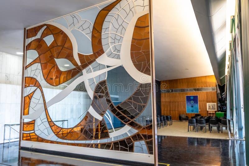 Adelsman Hall - Salao Nobre - av kammaren av ersättare på den brasilianska rådsmötet - Brasilia, federala Distrito, Brasilien royaltyfria bilder