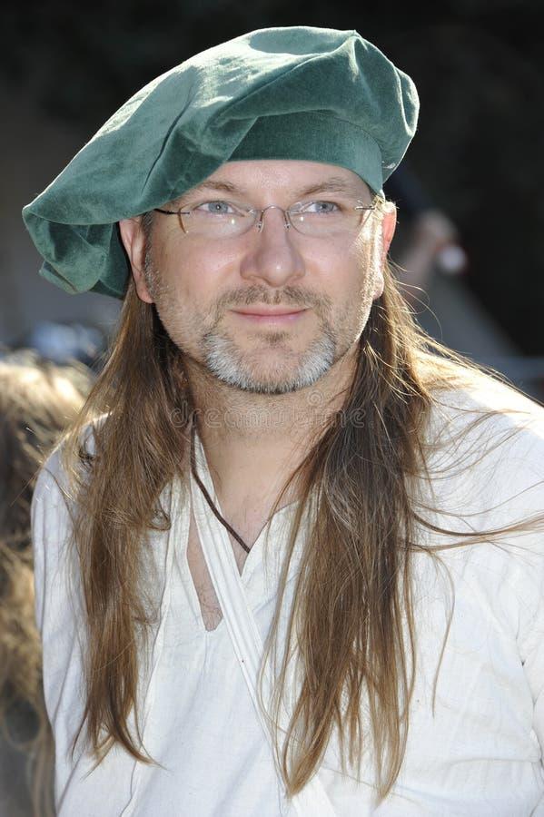 Adelsman på den medeltida festivalen, Nuremberg 2013 arkivfoton