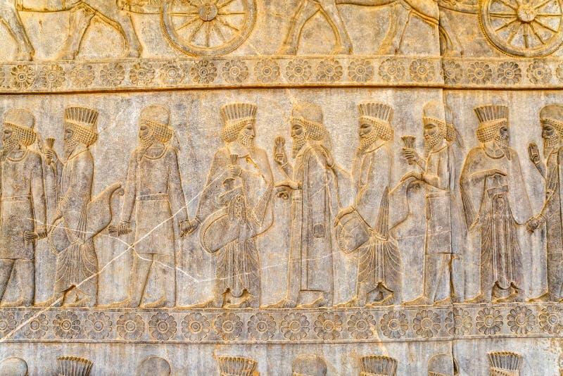 Adelsmanlättnadsdetalj Persepolis royaltyfri fotografi