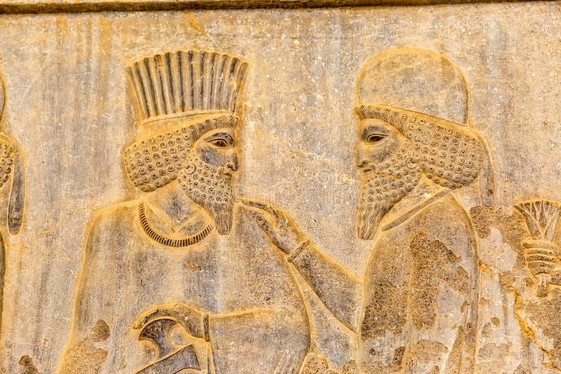 Adelsmanlättnadsdetalj Persepolis royaltyfria foton