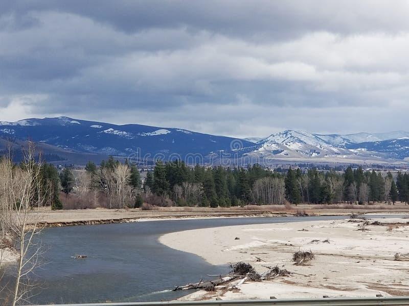 Adem het nemen van Montana Rocky-bergen royalty-vrije stock foto