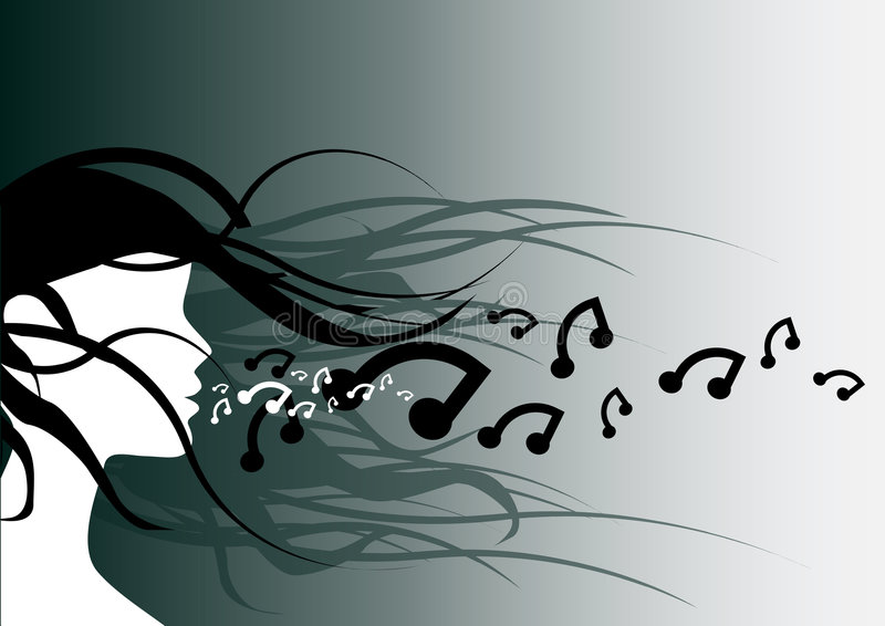 Adem muziek stock illustratie