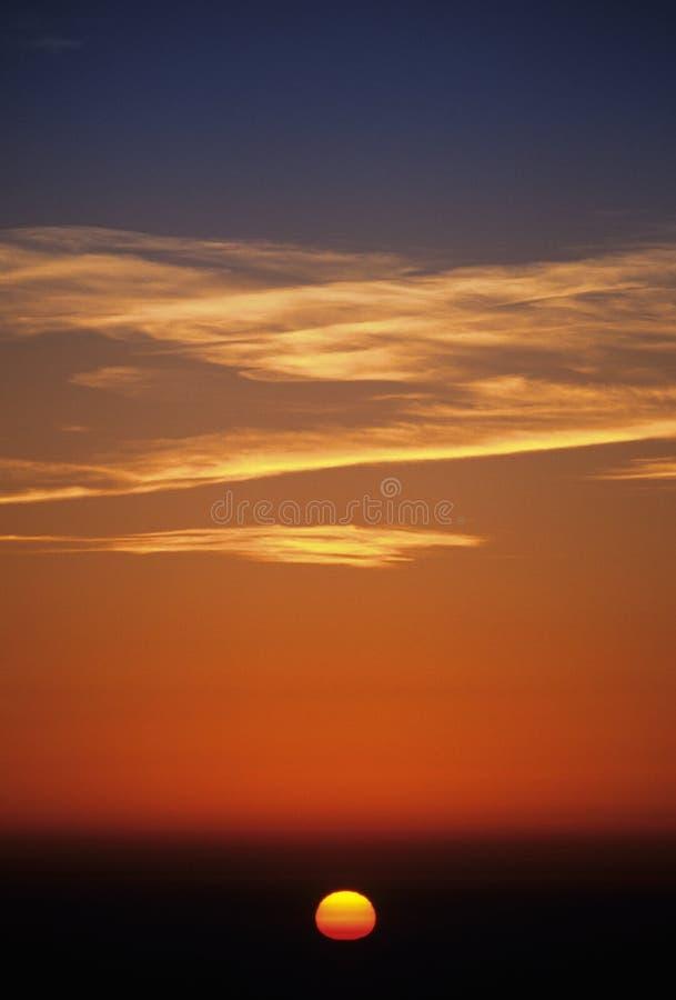 adembenemende zonsopgang royalty-vrije stock afbeelding