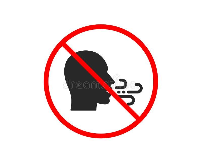 Ademend pictogram Het teken van ademmoeilijkheden Vector royalty-vrije illustratie