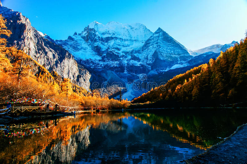 Aden yading mountains in China stock photos