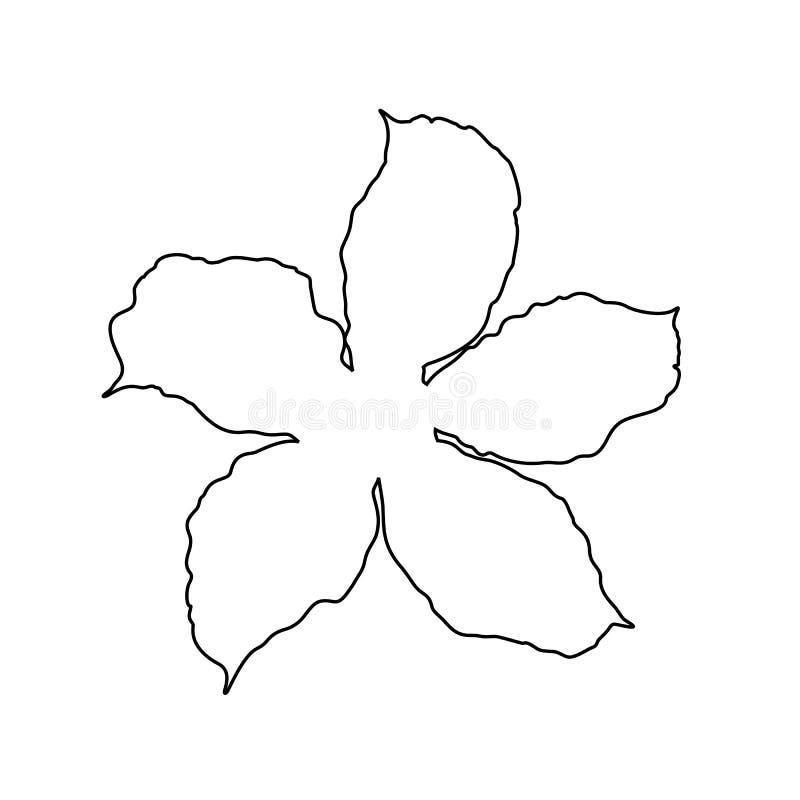 Adenium kwiatu ilustracja, kreskowej sztuki styl, czarny i biały - wektor ilustracji