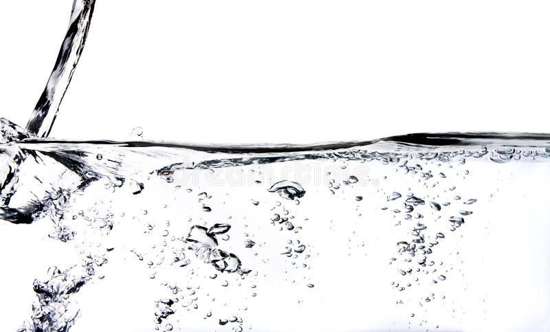 Adentro agua vertida agua imagen de archivo