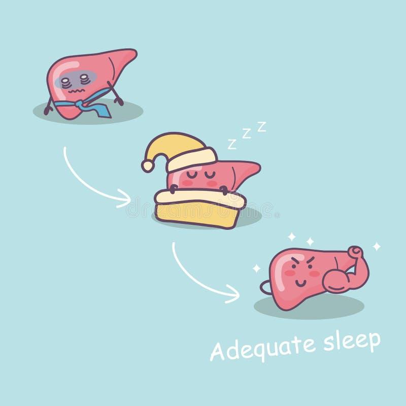 Adequaat slaapgoed voor lever vector illustratie