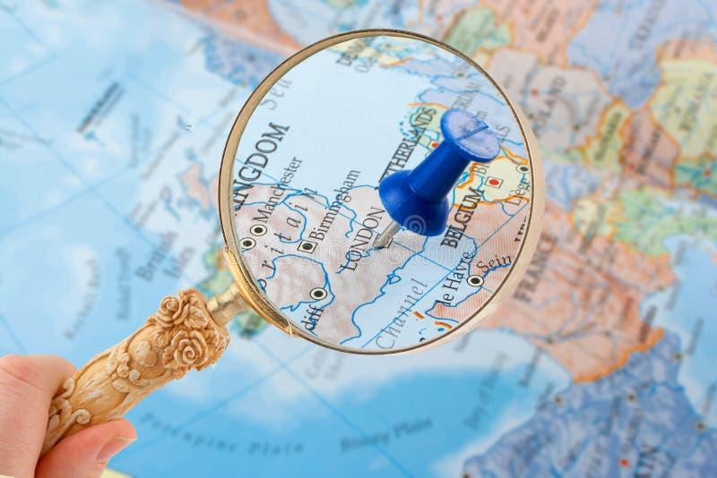Aderência do mapa de Londres foto de stock