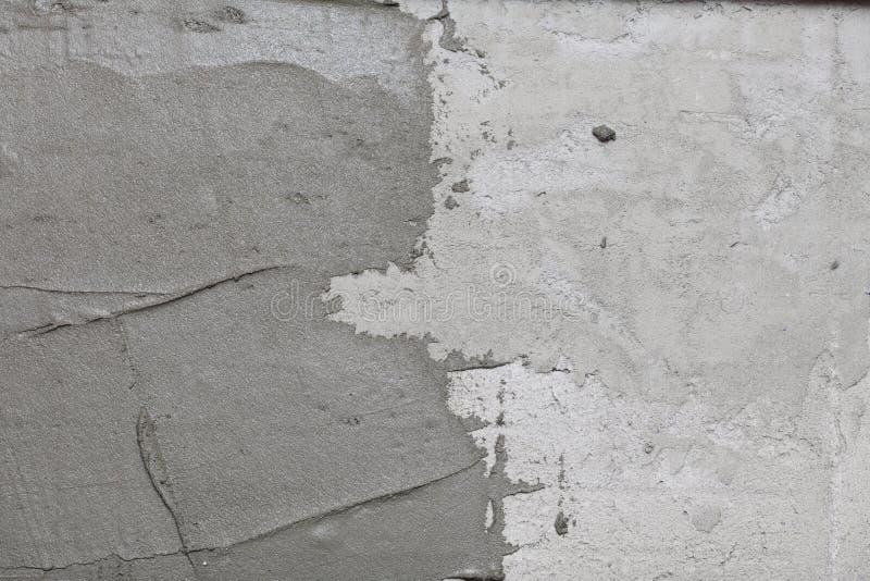 Adesivo di costruzione astratto della parete dello stucco del gesso fotografia stock libera da diritti
