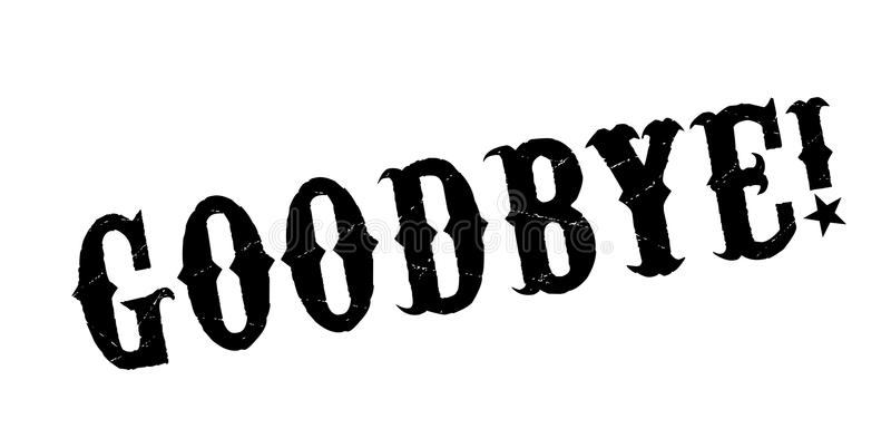 Adeus carimbo de borracha ilustração do vetor