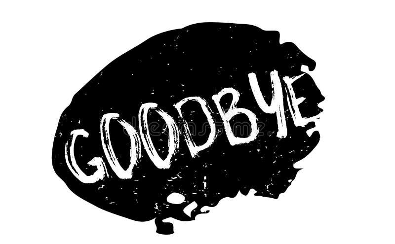 Adeus carimbo de borracha ilustração royalty free
