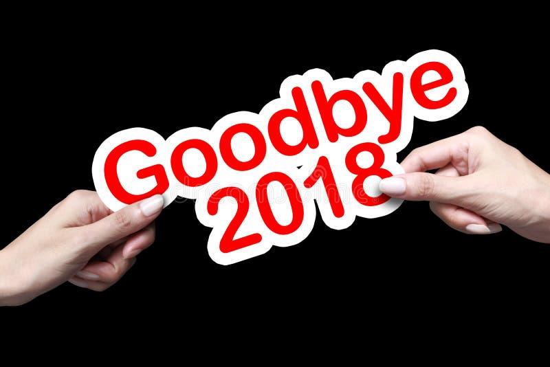 Adeus 2018 e boa vinda 2019 fotografia de stock