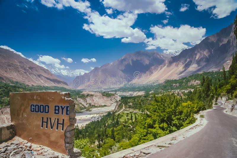 Adeus estrada de Karakorum fotografia de stock