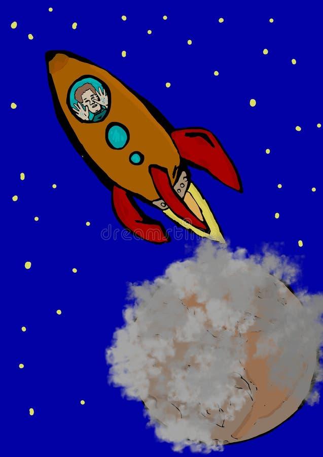 Adeus meu mundo ilustração stock