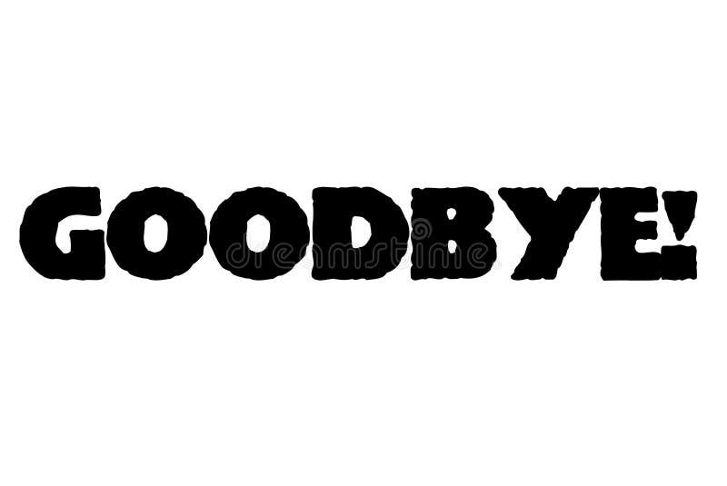 Adeus selo tipográfico do selo ilustração royalty free