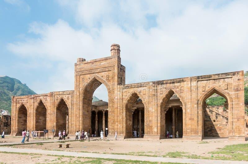 Adhai声浪钾Jhonpra清真寺在阿杰梅尔 库存照片