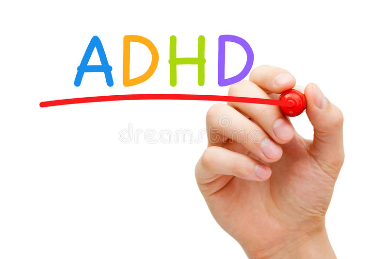 ADHD注意力不集中活动过度混乱 免版税库存照片