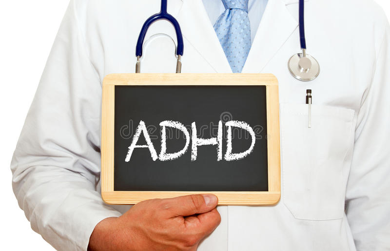 ADHD - Αναταραχή υπερδραστηριότητας διάσπασης της προσοχής στοκ εικόνες