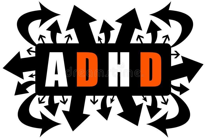 ADHD illustration libre de droits