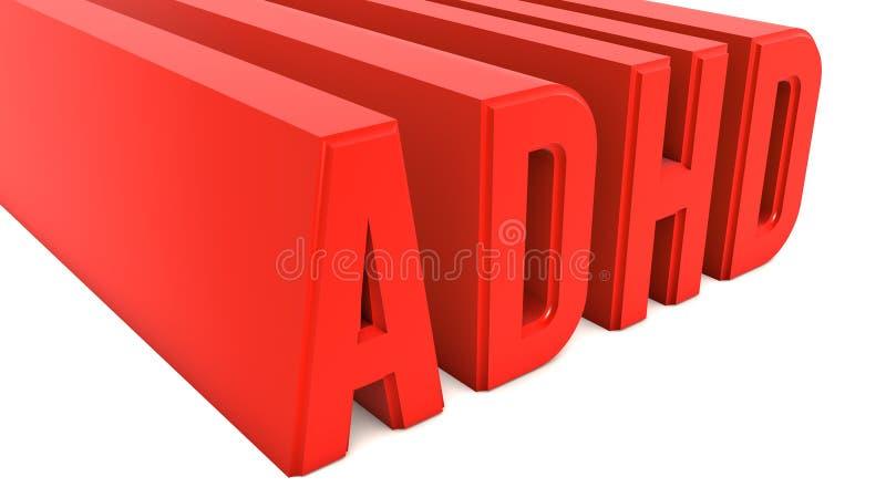 ADHD ilustración del vector