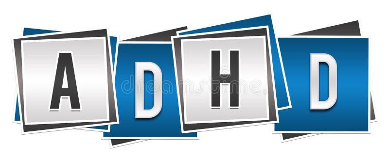 ADHD - Azul Grey Blocks del desorden de la hiperactividad del déficit de atención libre illustration