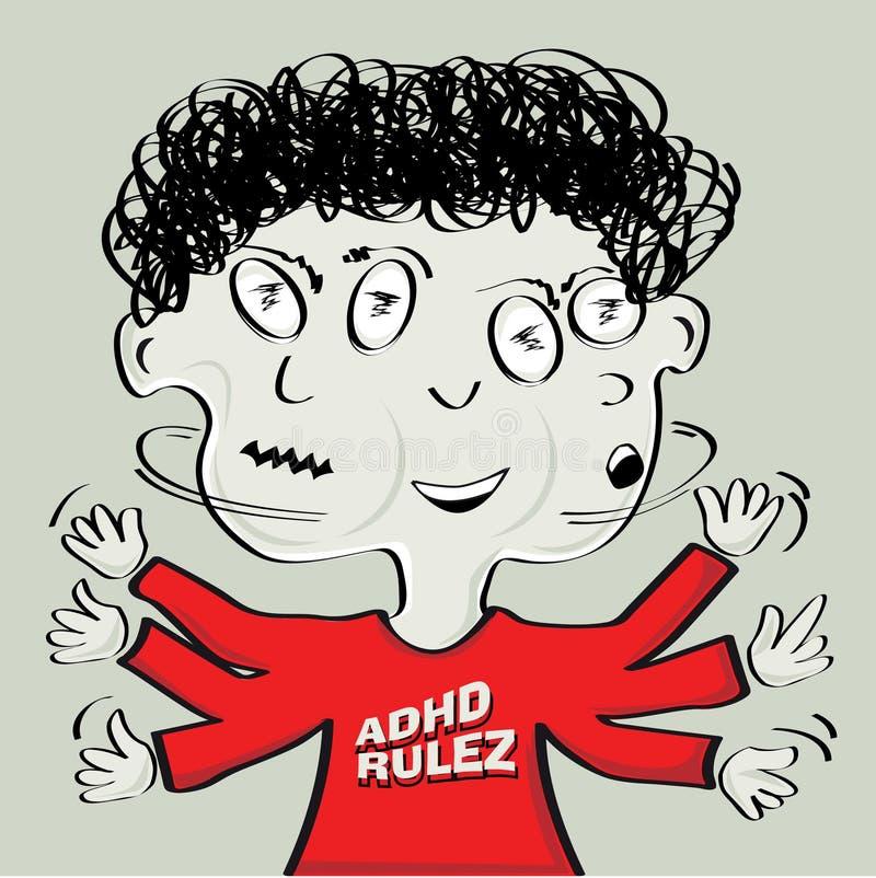 adhd chłopiec ilustracji
