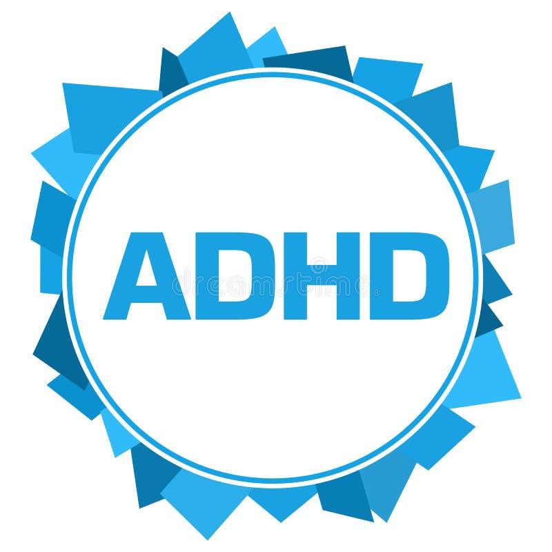 ADHD - Circular abstracta azul del desorden de la hiperactividad del déficit de atención libre illustration