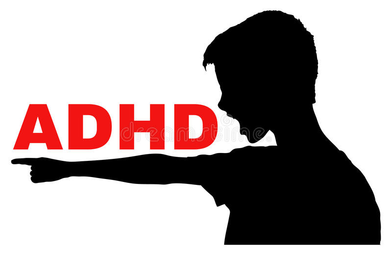 ADHD-Concept royalty-vrije illustratie