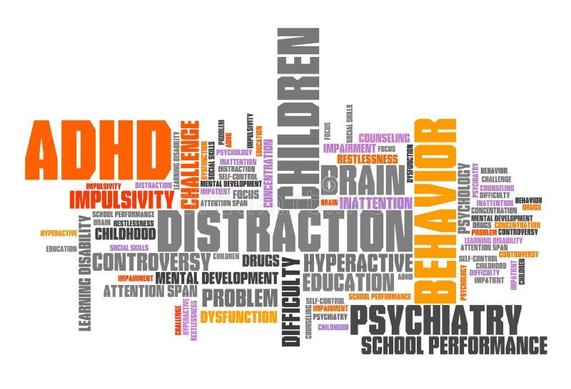 ADHD-oordning vektor illustrationer
