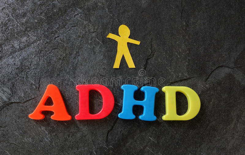 ADHD-pappersbarn arkivfoton