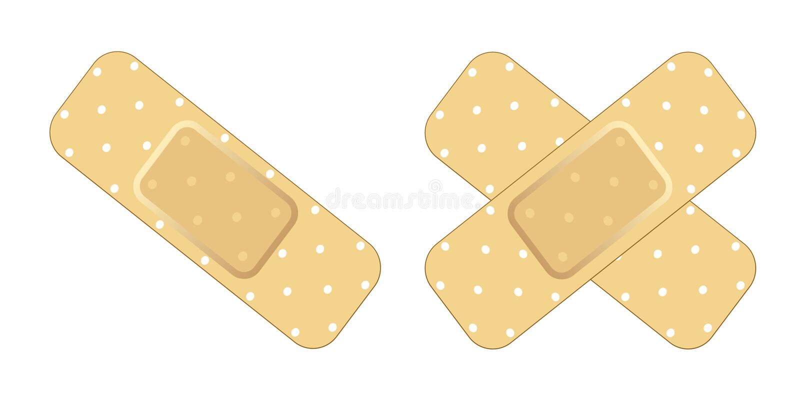 Adhesive Bandage vector illustration