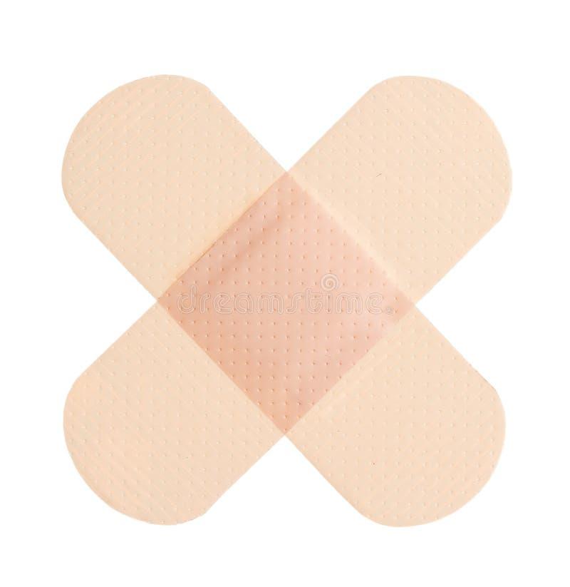 Adhesive bandage. On a white background stock photo