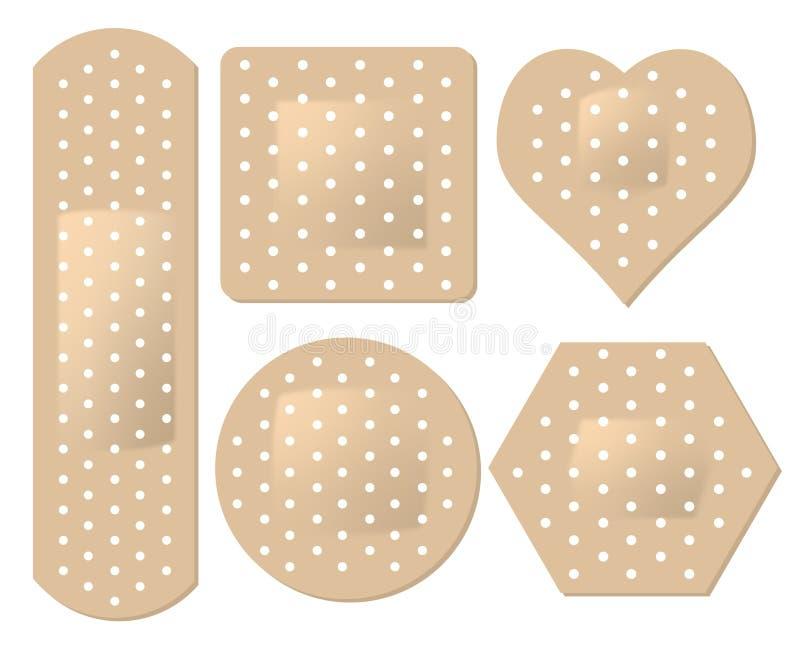 Download Adhesive Bandage Set stock vector. Illustration of band - 18666662