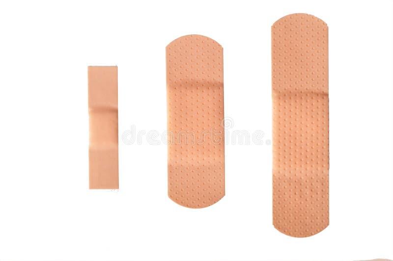 Adhesive bandage strips isolated royalty free stock images