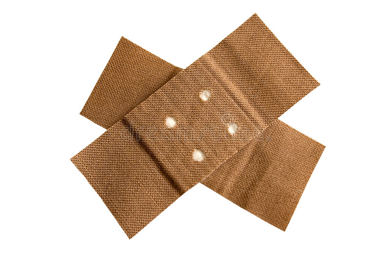 Adhesive Bandage w/ Path stock image