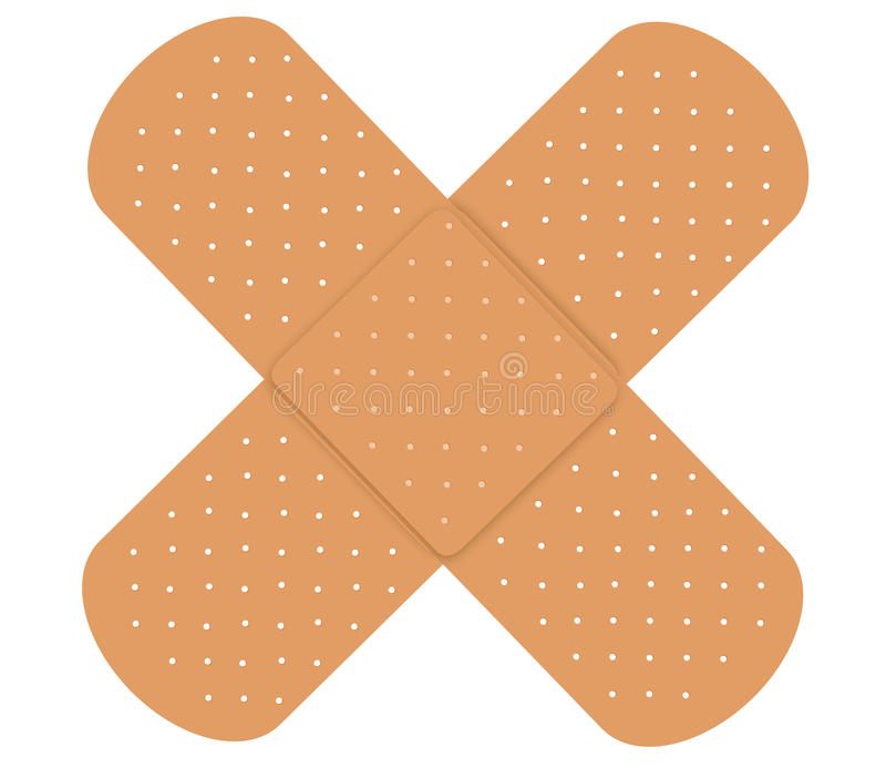 Adhesive bandages. Two Adhesive bandages isolated on white background vector illustration